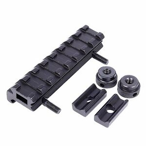 See Through Flat Top 8 Slots 20mm Weaver Rail Mount Base for Hunting Rifle Scope