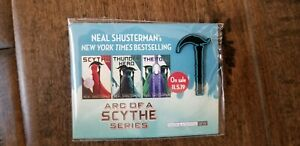 2019-SDCC-COMIC-CON-EXCLUSIVE-NEAL-SHISTERMAN-ARC-OF-A-SCYTHE-SERIES-PIN-ON-CARD