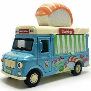 1-32-Sushi-Imbisswagen-Die-Cast-Modellauto-Auto-Spielzeug-Model-Sammlung
