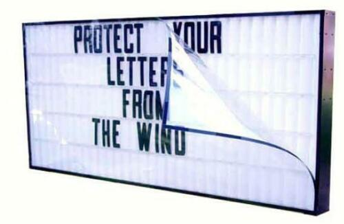 """Letter Guard for 40/"""" x 96/"""" Economy Signs Wind Protector"""