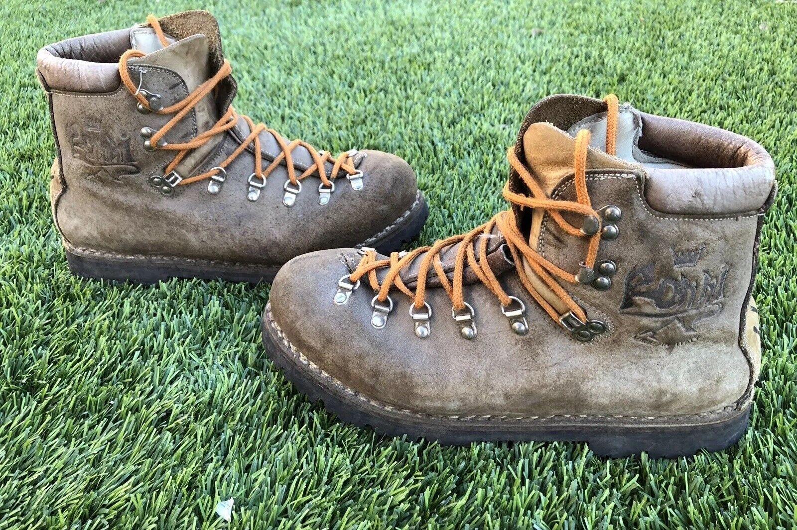 Vintage Vibram alpinista pesado deber botas para hombre M Hecho Italia