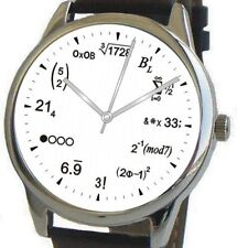 """Math Dial"" Large Theme Watch Has Physics Equation At Each Hour Indicator"