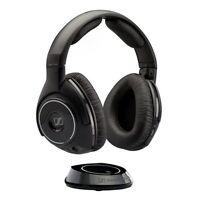 Sennheiser RS160 Over-Ear Digital RF Wireless DJ Headphones with Hi Fi Sound (Black)