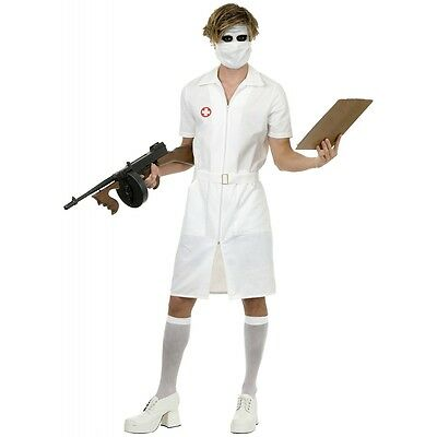 Joker Nurse Costume Adult Halloween Fancy Dress