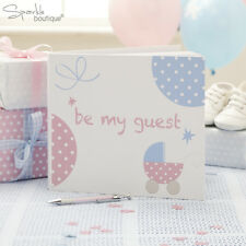 Baby Shower GUEST BOOK -Unisex Christening Party- FULL TINY FEET RANGE IN SHOP!