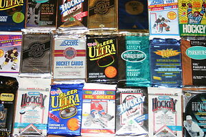 Great-Lot-of-100-OLD-Unopened-Hockey-Cards-In-Packs