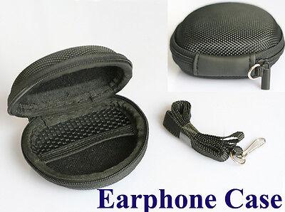 Schwarz Tasche Case für Ohrhörer Kopfhörer Memory Karte + Lanyard