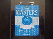 1983 Masters Badge Augusta National Ballesteros