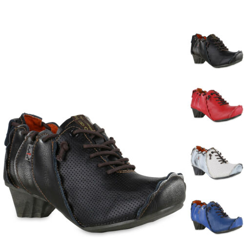 896142 TMA MAIA Damen Stiefeletten Ankle Boots Leder Vintage Schuhe New Look