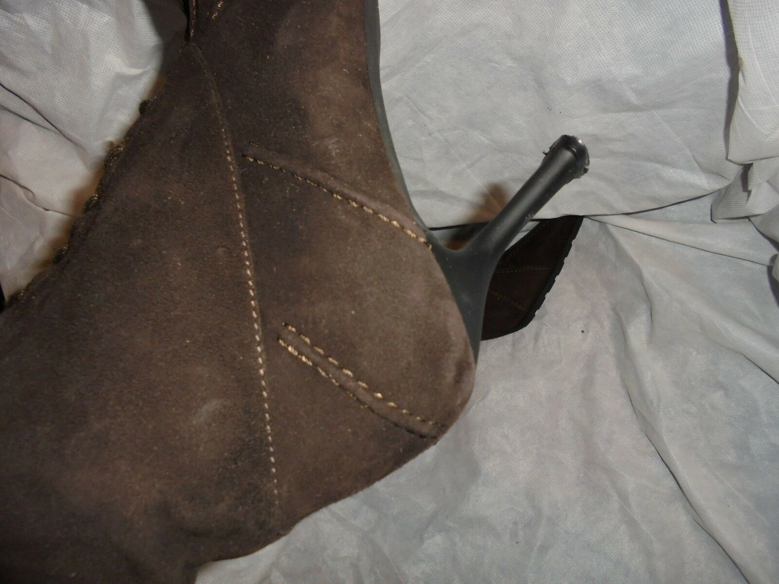 STUART WEITZMAN WOMEN BROWN SUEDE SUEDE BROWN LEATHER LACE/ZIP ANKLE BOOT SIZE UK 5.5 US 8.5 fafafd
