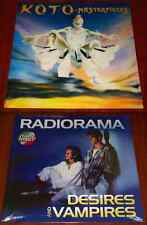 2x ITALO LP VINYL Lot RADIORAMA DESIRES AND VAMPIRES & KOTO MASTERPIECES New