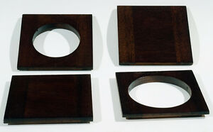 "1 LENS BOARD 101mm x 101mm for ANSCO 4x5"" View Camera - of Mahogany, free hole"