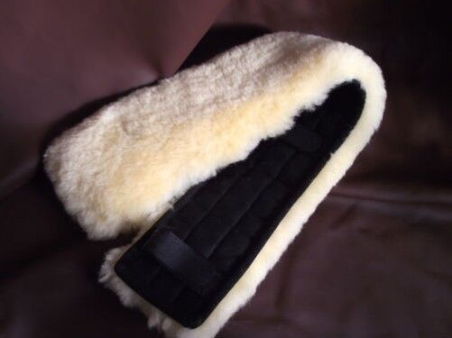 Piel de Cordero Auténtica Beltpad Cubiertas Del Cinturón Seguridad 80x15 para