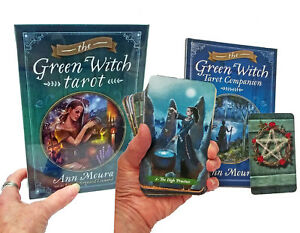 GREEN-WITCH-TAROT-by-ANN-MOURA-ENERGY-OF-THE-OLD-RELIGION-264-PG-BOOK-78-CARDS