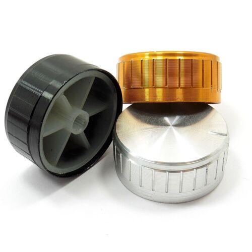 Moleteado 40 Mm x 17 mm potenciómetro Perilla Control De Volumen De Aluminio Tapa mezclador de sonido