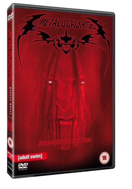 Metalocalypse Adult Swim Complete Series 3 DVD Brand New Sealed Original UK R2