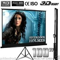 100 Tripod Projector Screen Home Entertainment Slide Projection