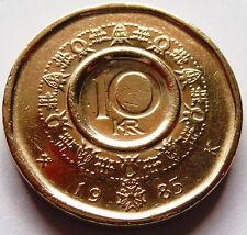 """10 coronas/kroner 1985 rey olav v de noruega en """"excelente"""" (extremely Fine)"""