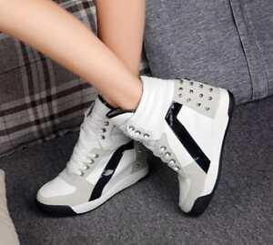1e2d030ceb0c2 Fashion Women's Sport Hidden Wedge Heel Casual Shoes Platform High ...