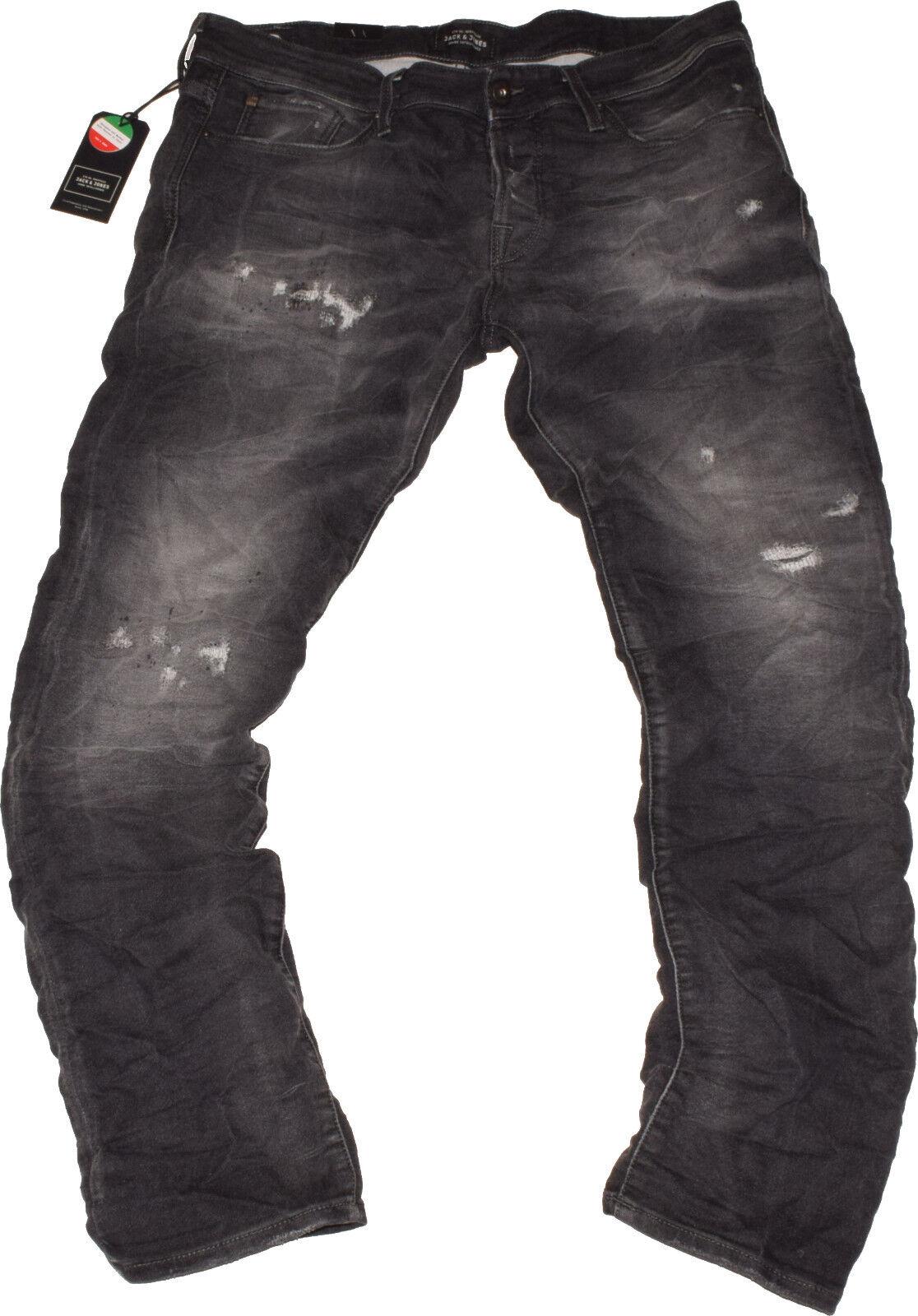Jack & Jones Glenn Slim Fit Jeans STRETCH EFFETTO VISSUTO NUOVO