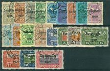 Österreich 1921 Michel Nr. 340-359 Hilfe für Hochwaaser-Geschädigte gestempelt