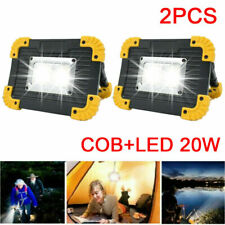 2x Portable Led Rechargeable Cordless Work Light Outdoor Camping Lamp Floodlight