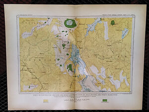 1899 Map of Southern Oregon Distribution Yellow Pine White Bark Pin ...