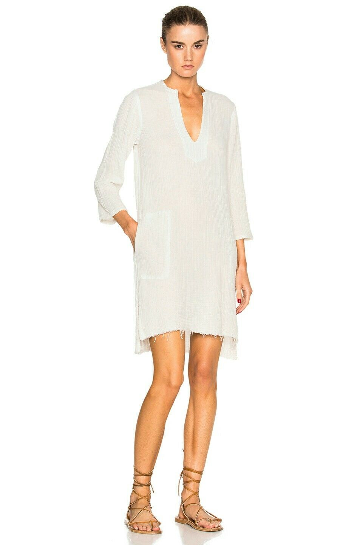 Raquel allegora cover up Tunic Dirty vit Dress Sz 2