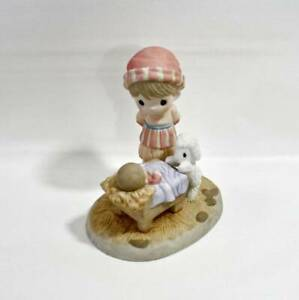 """Precious Moments Shepherd and Baby Jesus """"Come Let Us Adore Him"""" Figurine 101049"""