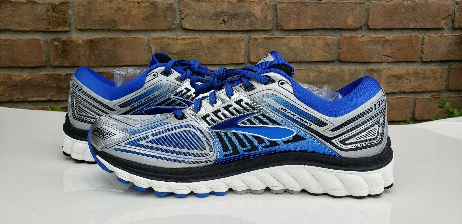 NEW BROOKS GLYCERIN 13 MENS RUNNING schuhe 110199 1D 095 Größe 10 Blau
