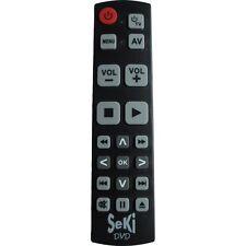 Seki DVD lernfähige Universal Fernbedienung schwarz mit großen Tasten NEUWARE