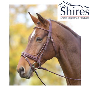 Shires Adelfia Rolled Leather Dressage Bridle SALE FREE UK Shipping