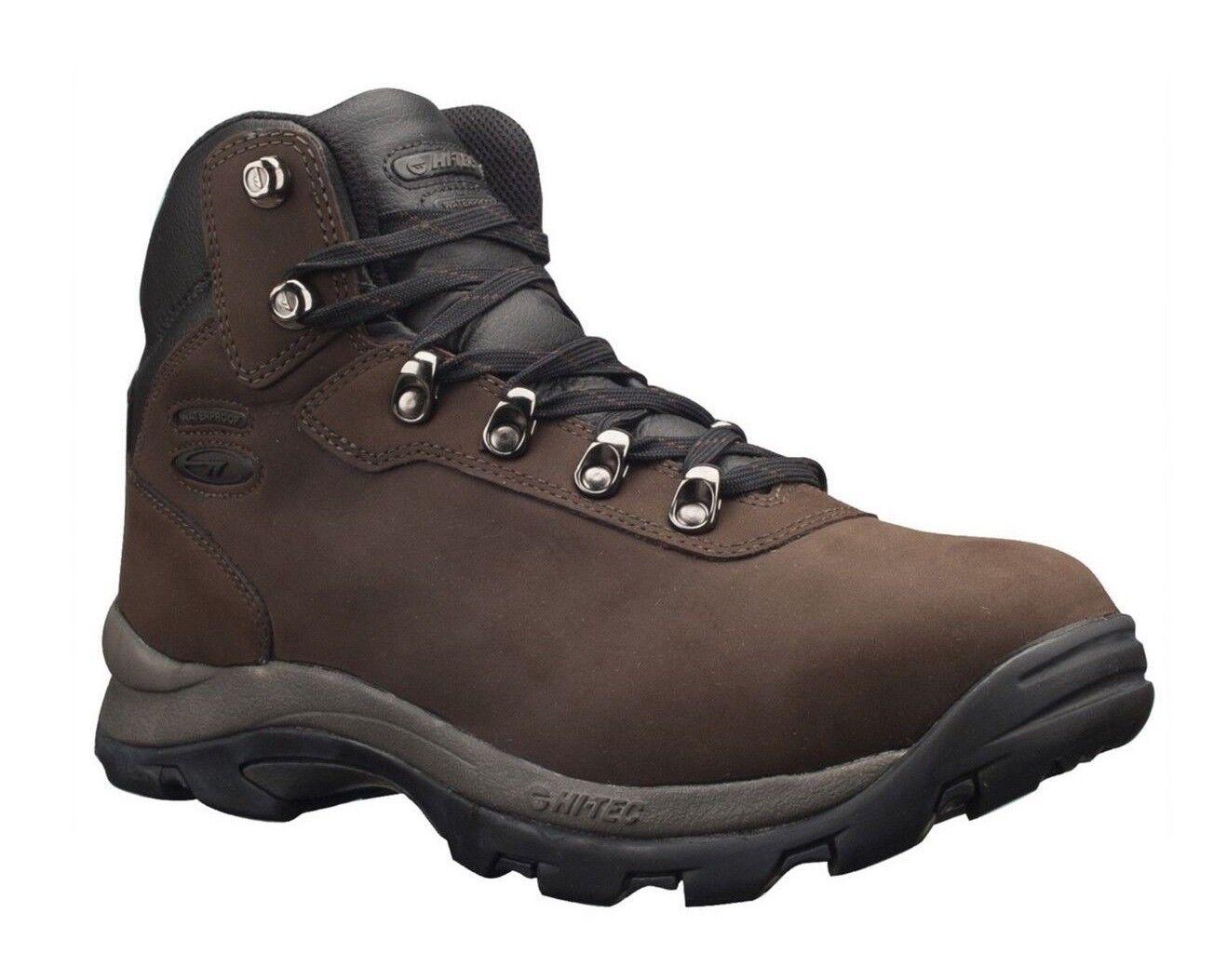 Hi-Tec Altitude IV 41100 Para Hombre De Cuero Chocolate Oscuro Impermeable botas Senderismo
