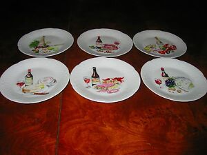 Philippe deshoulieres limoges canape plate 6w white wine for Philippe deshoulieres canape plates