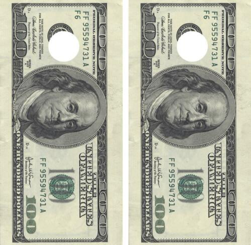 Hundred Dollar Bill Cornhole Board Decal Wrap Decal Set FREE SQUEEGEE