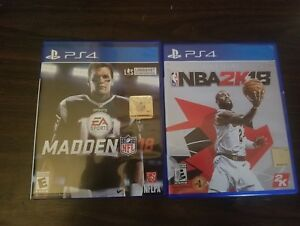 Details about PS4 NBA 2K18 & MADDEN 18 PRE-OWNED BUNDLE PKG
