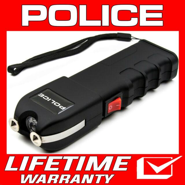 POLICE Stun Gun 928 650 BV Heavy Duty Rechargeable LED Flashlight Black