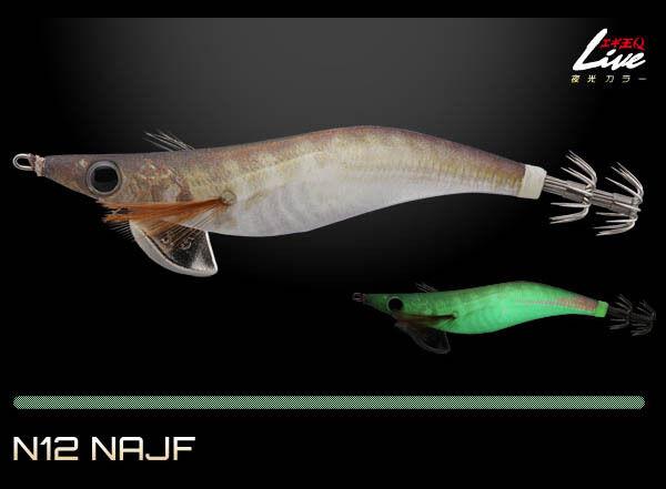Yamashita EGI OH Q LIVE #3.0 Basic N12/NAJF (Glow Body) Warm Jacket Squid Jig