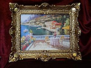 merveilleux-Peintures-PHOTO-BAROQUE-ANTIQUE-REPRO-Seeterasse-UVRES-D-039-ART