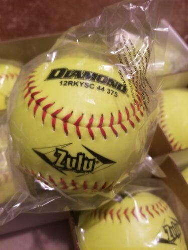 Diamond 12RKYSC 44 375 Zulu ASA Certified Softballs 12 PACK NEW