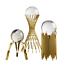 thumbnail 4 - For Sphere Crystal Balls Displays Gold Metal Base Stand Not include ball