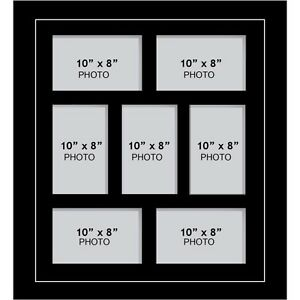 Large Multi Picture Photo Aperture Frame 10 X 8 Inches Size With 7