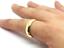 Tungsten-Carbide-Classic-18k-Gold-Polish-Wedding-Band-Men-Women-Engagement-Ring thumbnail 4