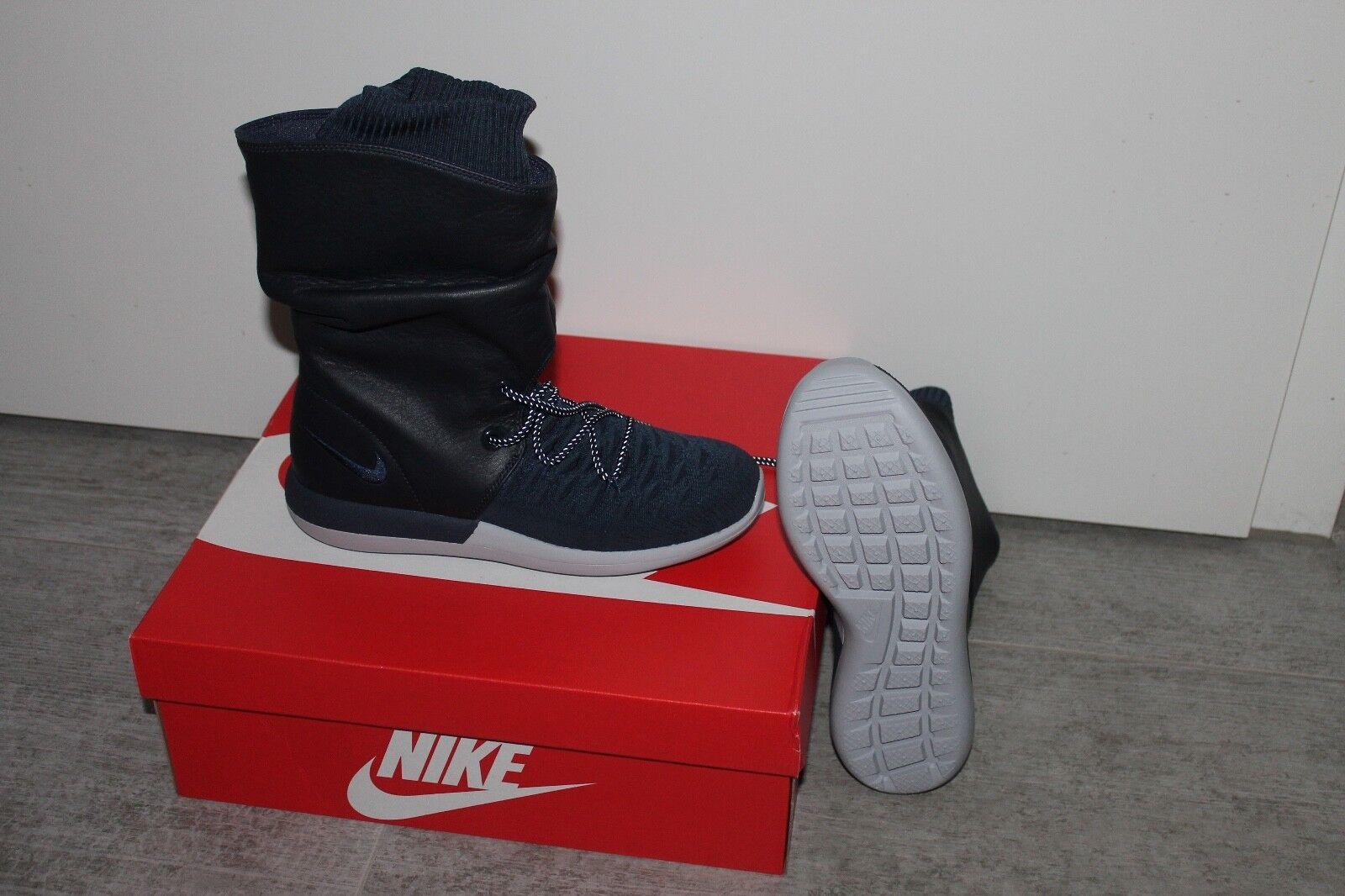 Nike Nike Nike Wmns Roshe DOS HI FLYKNIT ZAPATILLAS DEPORTIVAS de mujer Zapato Botas Azul 034f66
