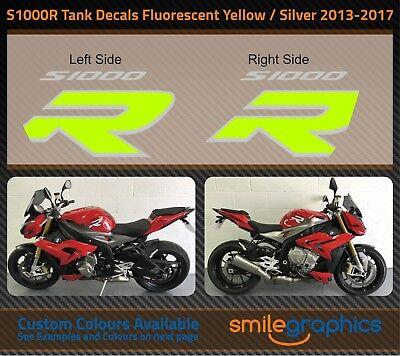 2009-14 BMW S1000RR Fairing Decals Fluorescent Yellow /& Gloss Black Stickers