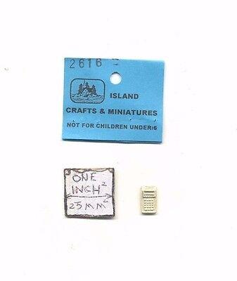 Calculator 1//12 scale dollhouse metal miniature ISL2616 desk Top