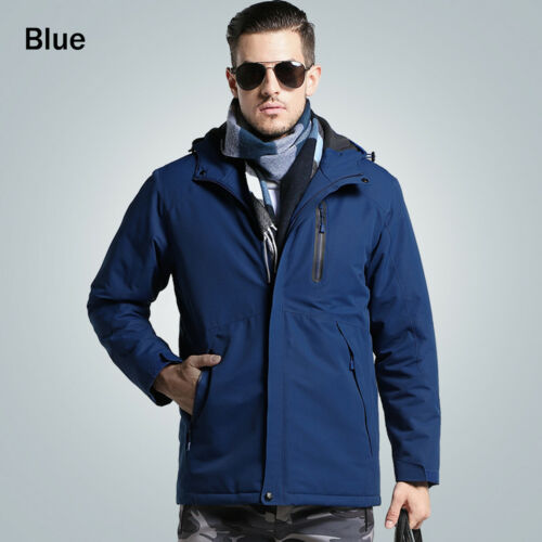 Mens Winter Electric Heated Vest Jacket Intelligent USB Coat Heating Clothing