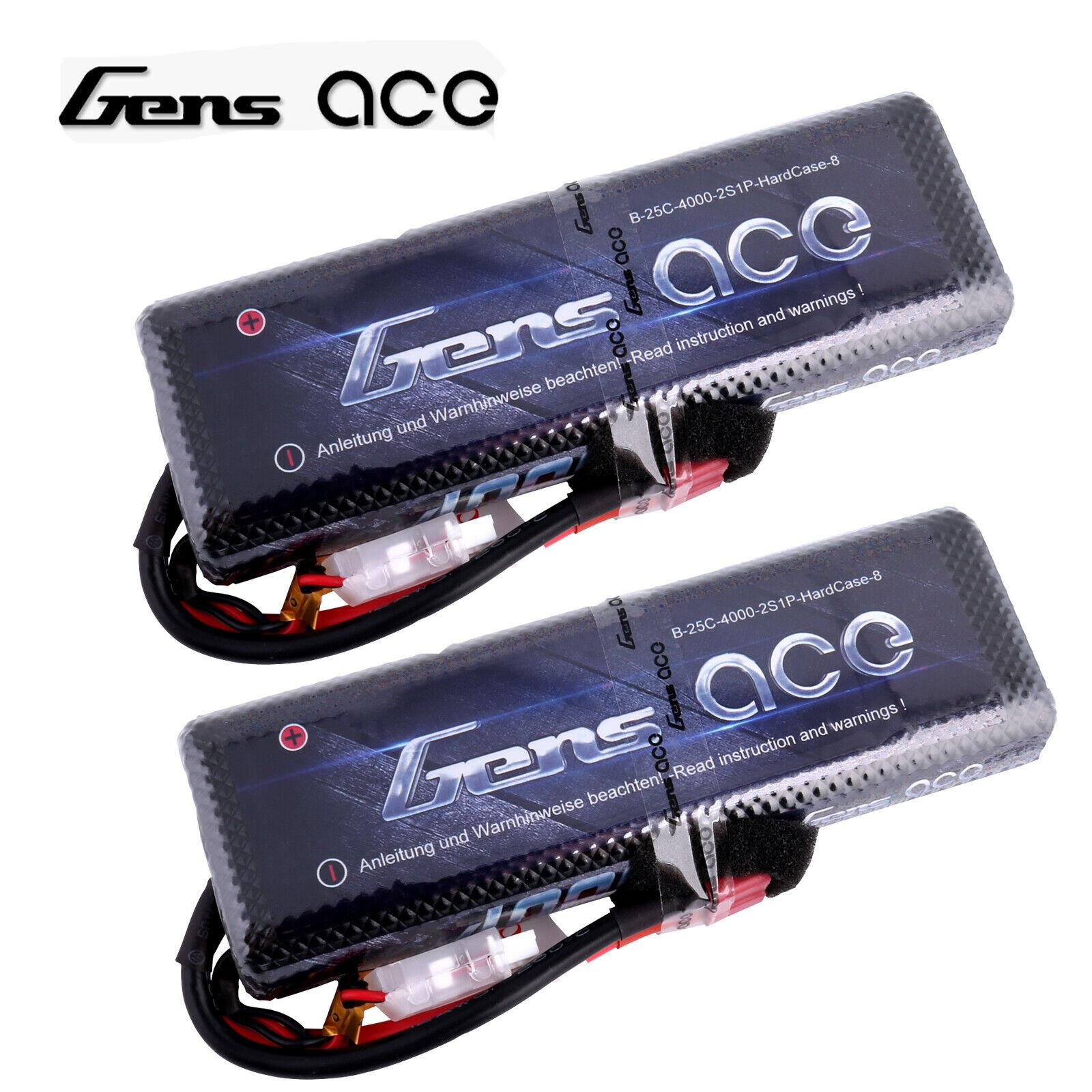 2  gens ACE 4000mah 7.4v 25c 2s1p LiPo batteria per Traxxas Slash EMAXX HPI 1 10 auto  spedizione gratuita!