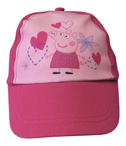 New Official Girls Cap Summer Hat Age 3-6 Years Light Pink//Deep Pink Peppa Pig