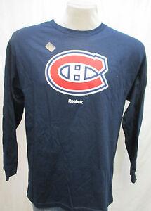 Montreal-Canadiens-NHL-Men-039-s-Reebok-Long-Sleeve-Logo-T-Shirt